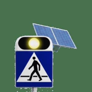 Aktywny znak D6 + panel fotowoltaiczny